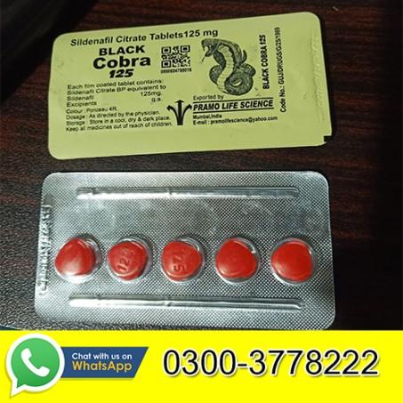 Black Cobra 125mg Tablets in Pakistan