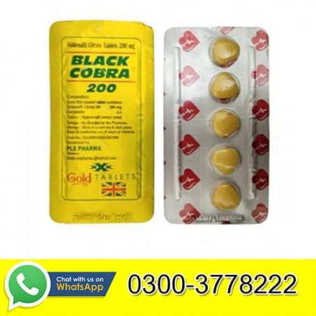 Black Cobra Tablets For Men 200mg in Pakistan